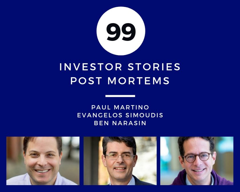 Investor Stories 98- Full Ratchet - Post Mortems (Martino, Simoudis, Narasin)
