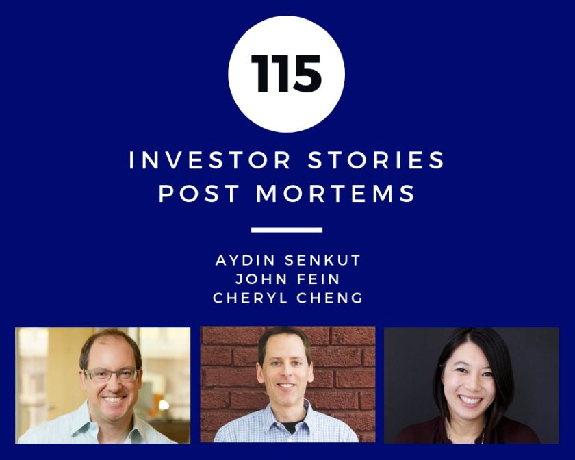 Investor Stories 115: Post Mortems (Senkut, Fein, Cheng)