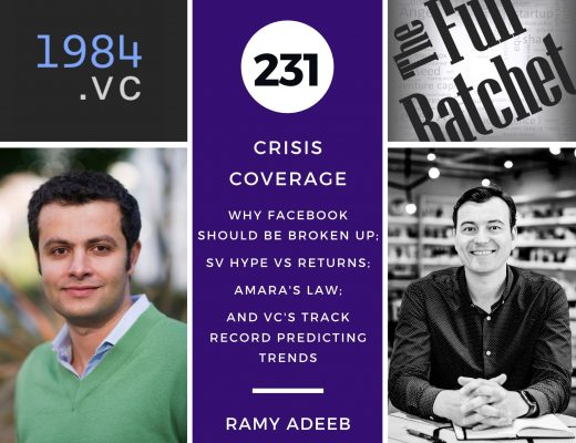 231. Crisis Coverage w/ Ramy Adeeb - Why Facebook Should be Broken Up; SV Hype vs Returns; Amara's Law; and VC's Track Record Predicting Trends