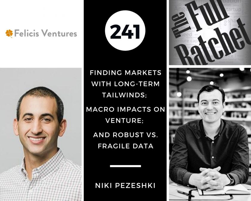 241. Finding Markets with Long-Term Tailwinds; Macro Impacts on Venture; and Robust vs. Fragile Data (Niki Pezeshki)