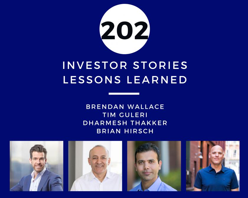 Investor Stories 202 Lessons Learned (Wallace, Guleri, Thakker, Hirsch)
